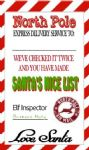 Personalised Red Stripe Christmas Tags